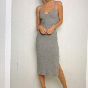 Brandy Melville gray maxi dress